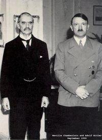 Neville.Chamberlain.and.Adolf.Hitler