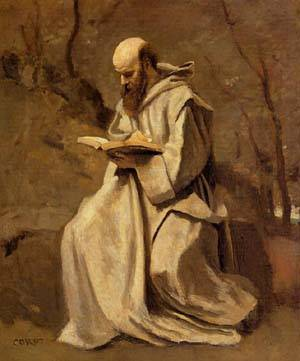 Monk_in_White_Seated_Reading__1857